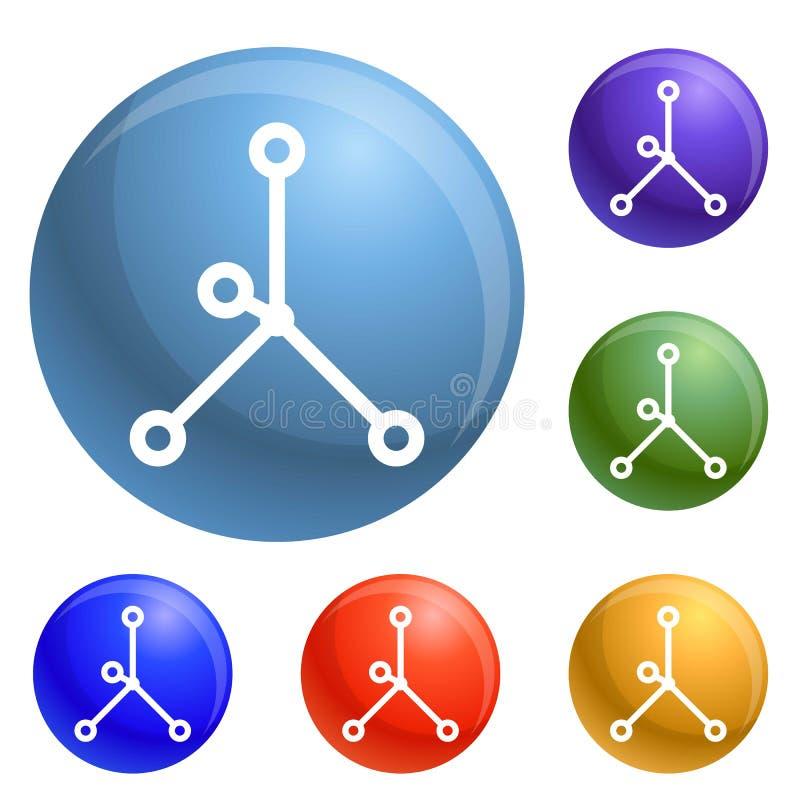 Vecteur en esclavage ionique d'ensemble d'icônes illustration de vecteur