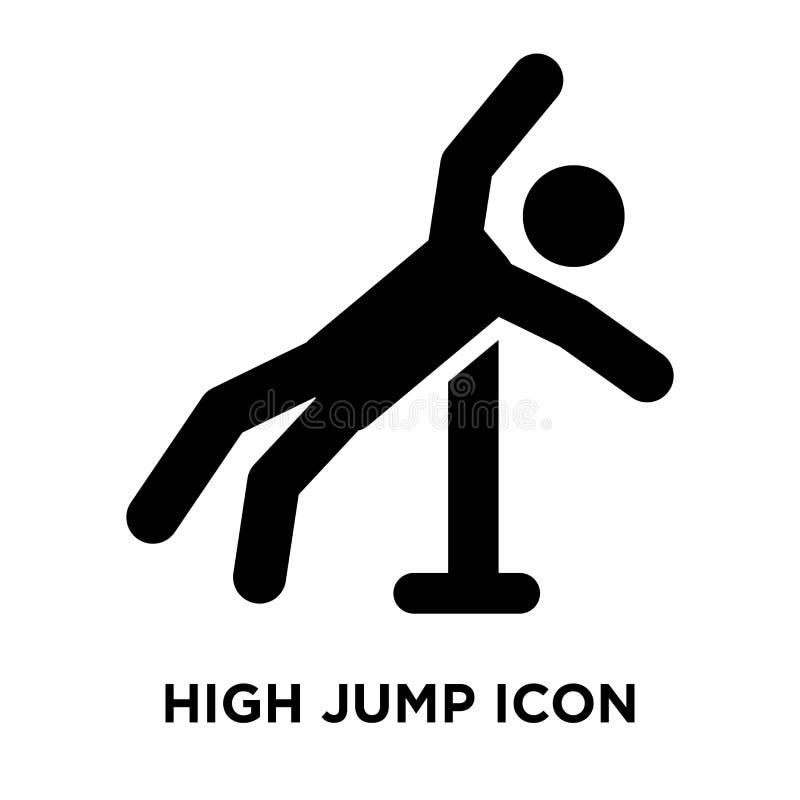 Vecteur en hauteur d'icône d'isolement sur le fond blanc, concept de logo illustration stock