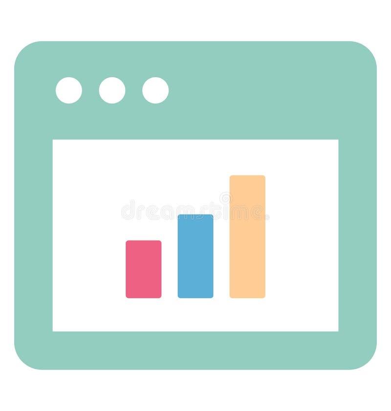 Vecteur en ligne de graphique li? aux fen?tres de web browser et enti?rement editable illustration stock