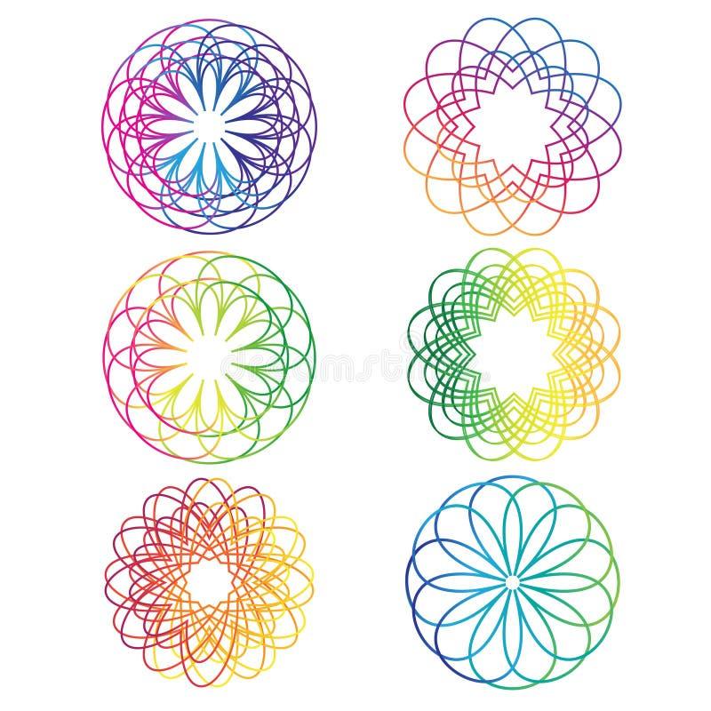Vecteur en spirale d'éléments d'abrégé sur arc-en-ciel illustration libre de droits