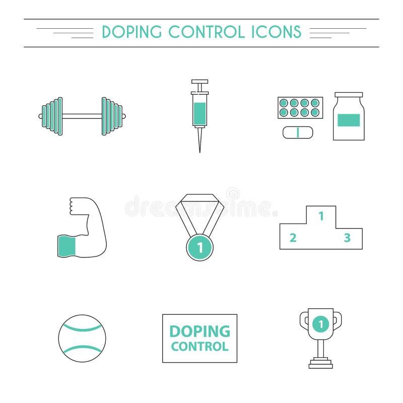 Vecteur enduisant des icônes d'ensemble de contrôle illustration stock