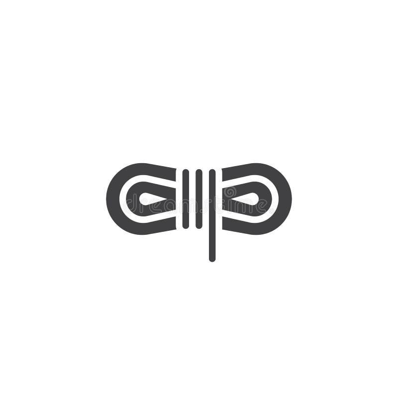 Vecteur enroulé d'icône de corde illustration stock