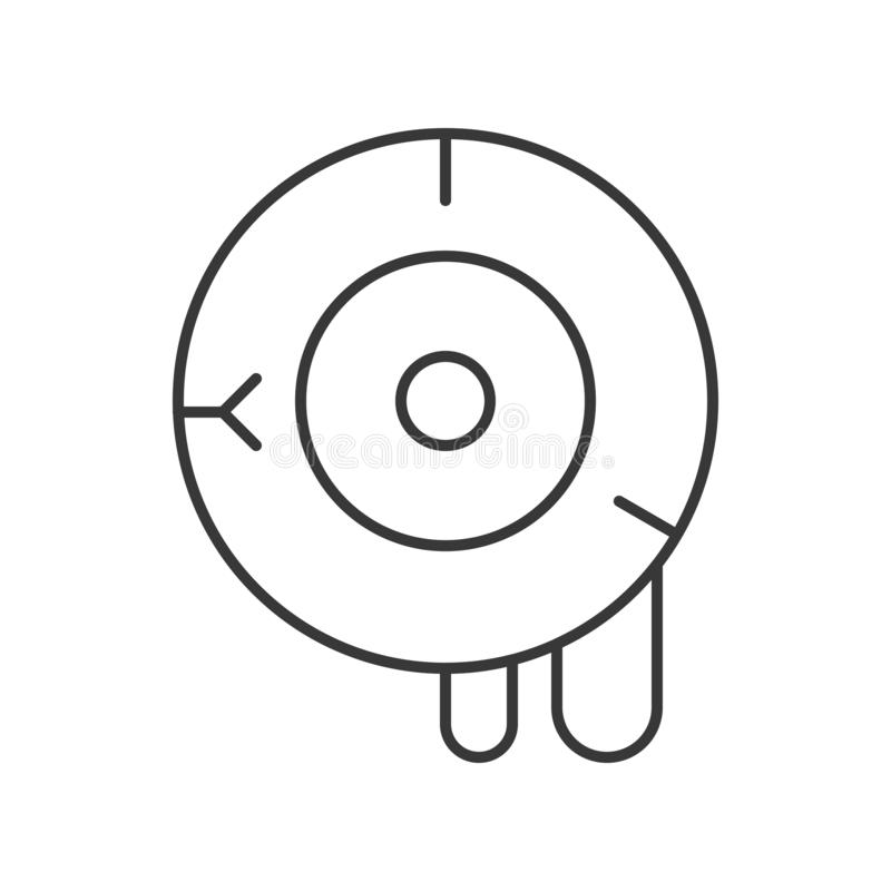 Vecteur ensanglanté de globe oculaire, course editable d'icône de Halloween illustration de vecteur