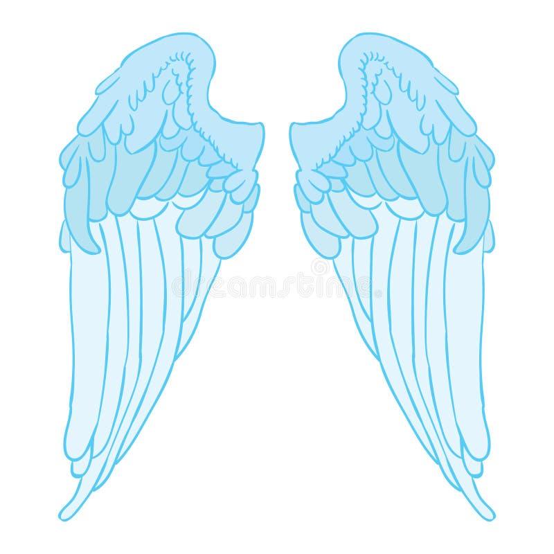 Vecteur ENV d'aile d'ange par des oks de crafter illustration libre de droits
