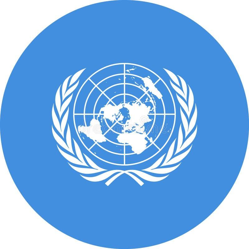 Vecteur ENV d'illustration de drapeau des Nations Unies illustration libre de droits