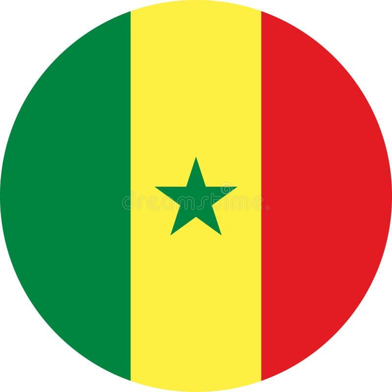 Vecteur ENV d'illustration de l'Afrique de drapeau du Sénégal illustration libre de droits