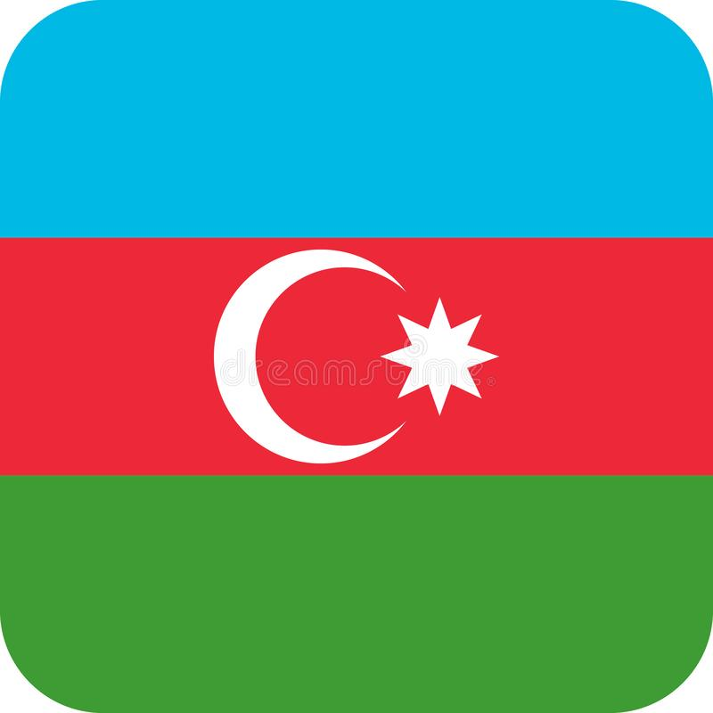 Vecteur ENV d'illustration de l'Azerbaïdjan de drapeau illustration de vecteur