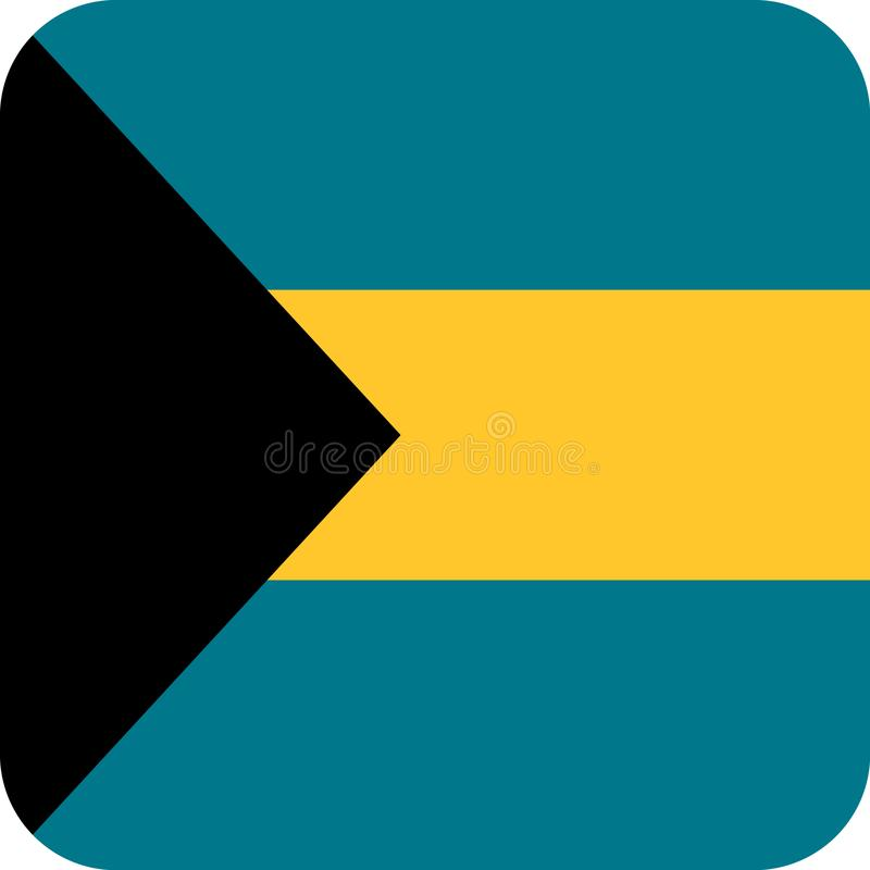 Vecteur ENV d'illustration des Bahamas de drapeau illustration libre de droits