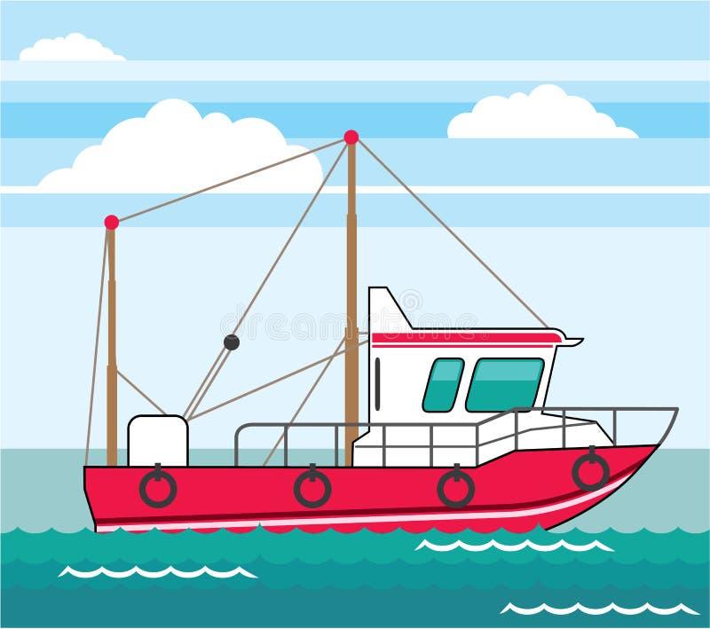 Vecteur ENV de bateau de pêche illustration de vecteur