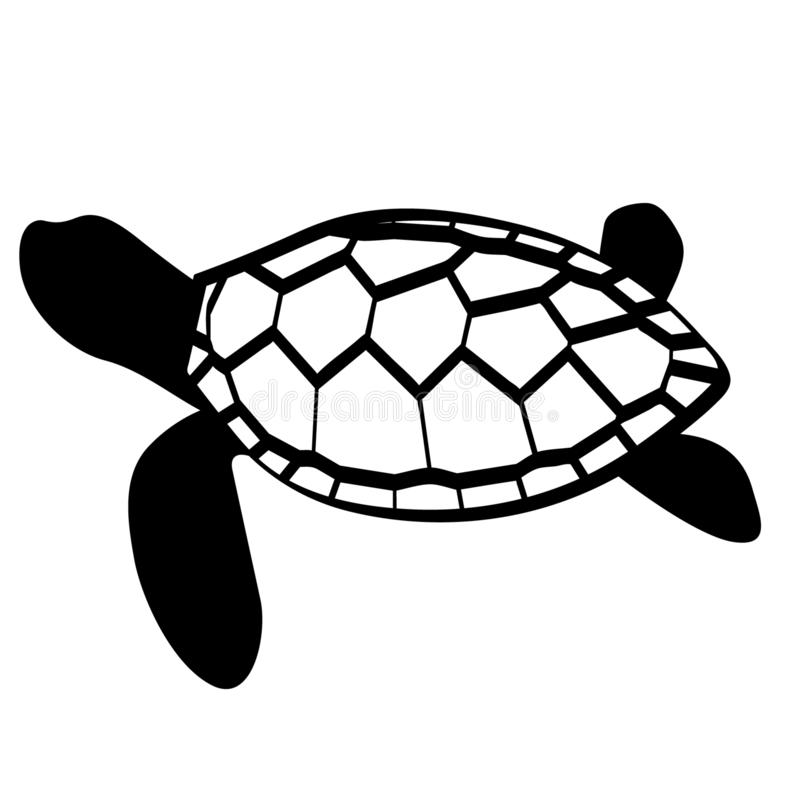 Vecteur ENV tir? par la main, vecteur, ENV, logo, ic?ne, illustration de tortue de silhouette par des crafteroks pour diff?rents  illustration libre de droits