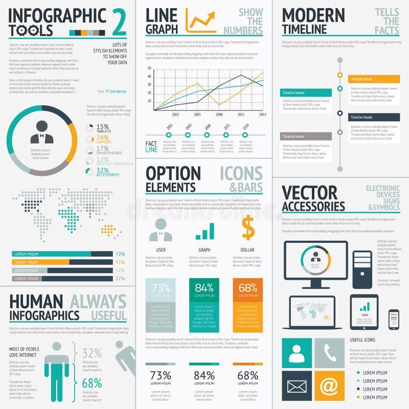 Vecteur EPS10 d'ensemble d'éléments d'Infographic grand illustration libre de droits