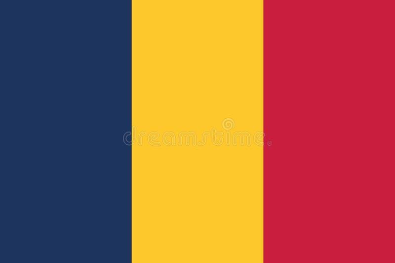 Vecteur eps10 de drapeau du Tchad Une illustration du drapeau du fond du Tchad illustration stock