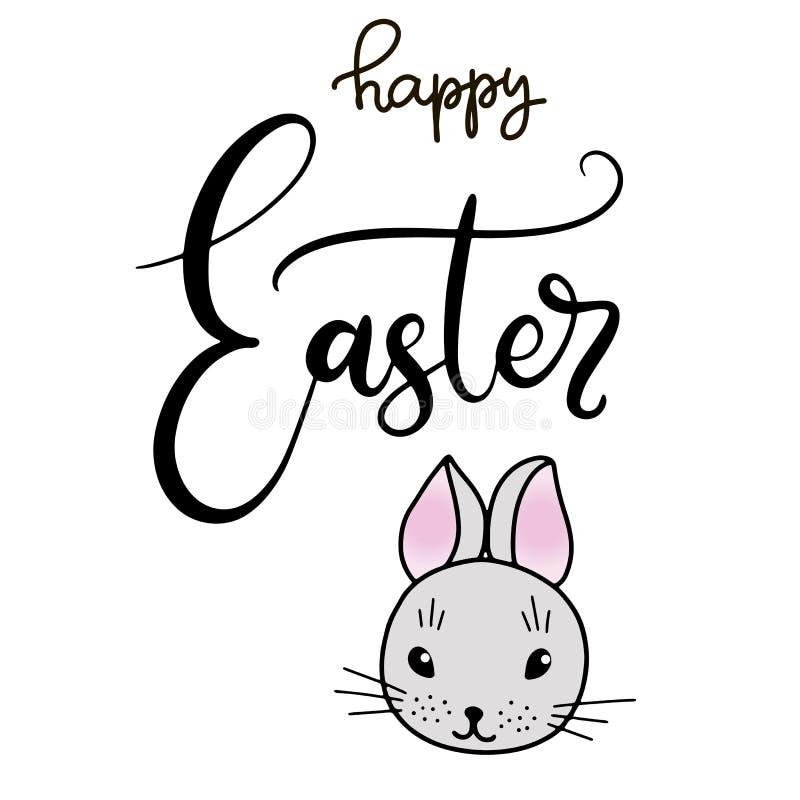 Vecteur EPS10 marquant avec des lettres l'illustration pour Joyeuses Pâques illustration libre de droits
