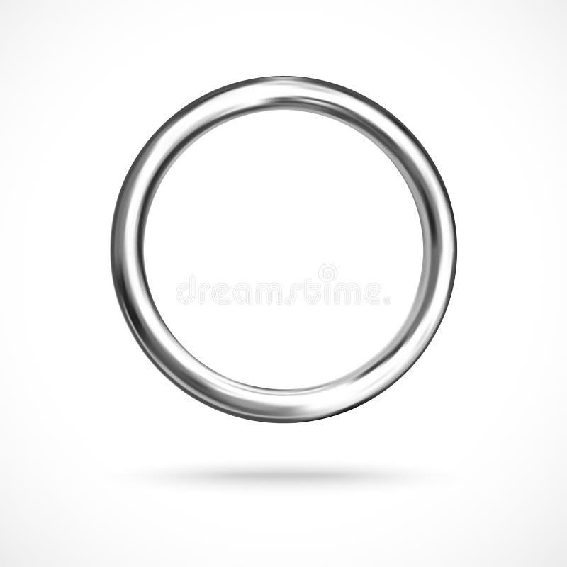 Vecteur eps10 rond d'anneau de tore argenté de copyspace illustration de vecteur
