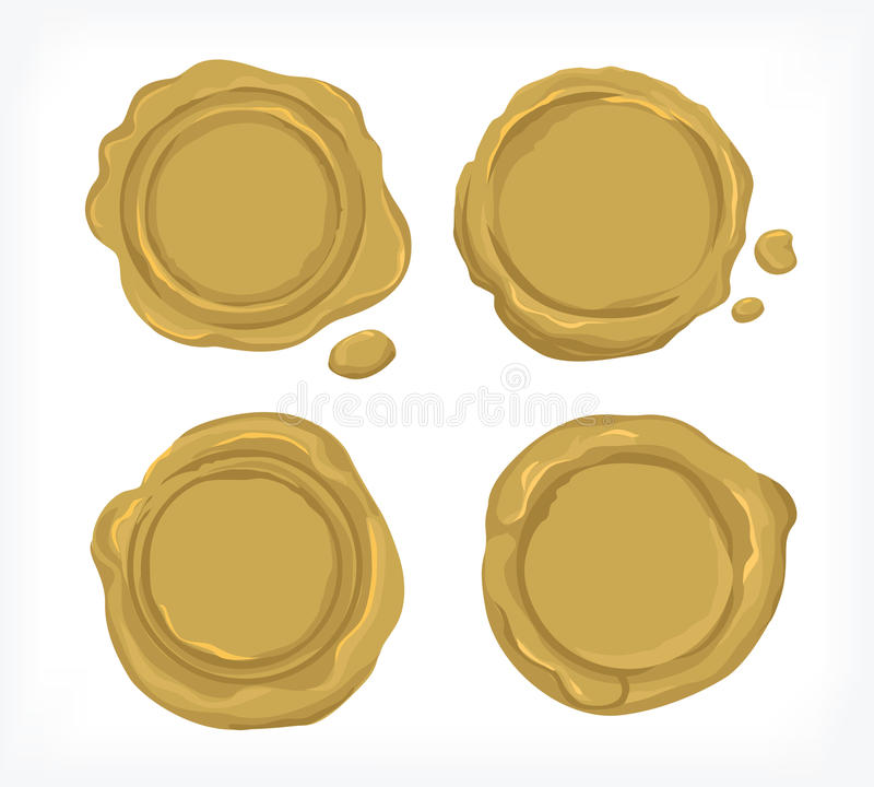 Vecteur et cliparts de cire de joint d'or pour des industries illustration de vecteur