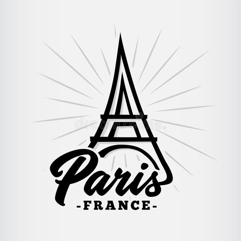Vecteur et illustration de Paris Tour Eiffel à Paris illustration libre de droits