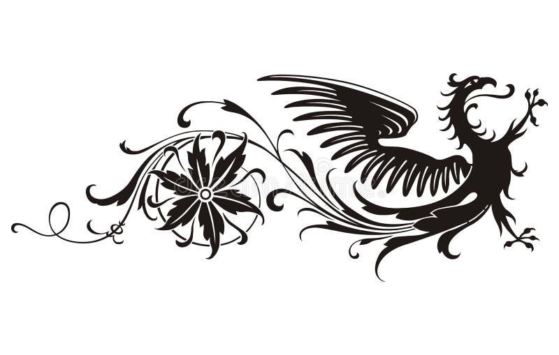 Vecteur féerique d'oiseau illustration stock