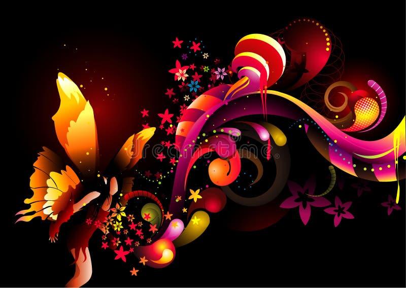 Vecteur féerique de couleur illustration de vecteur