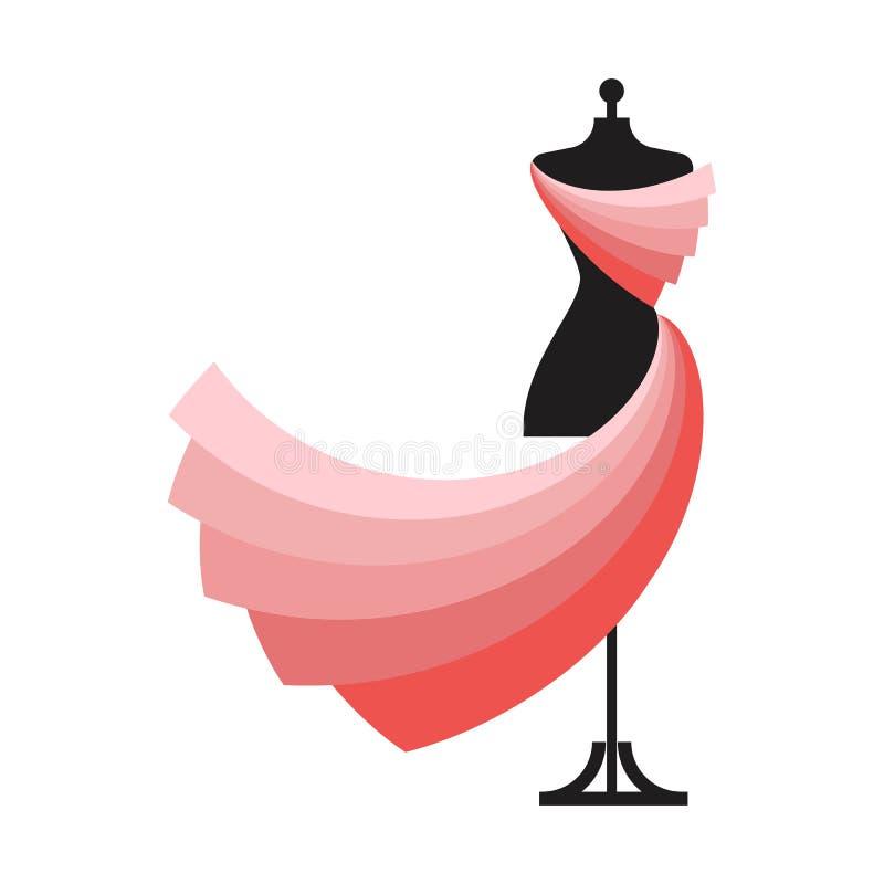 Vecteur factice d'illustration de robe illustration stock
