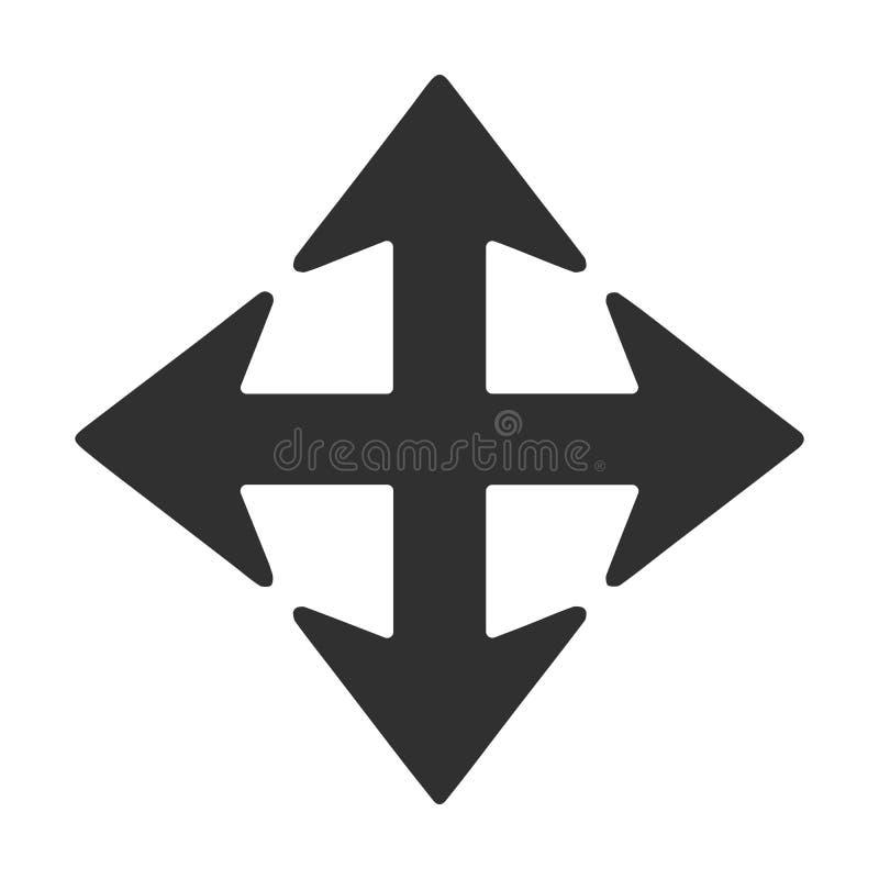 Vecteur - flèche à quatre voies de direction illustration de vecteur
