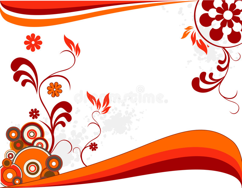 Vecteur floral illustration stock