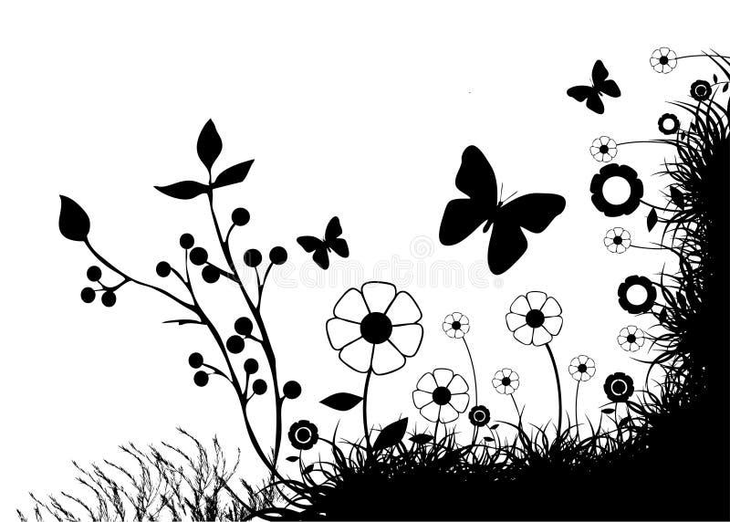 Vecteur floral abstrait illustration stock