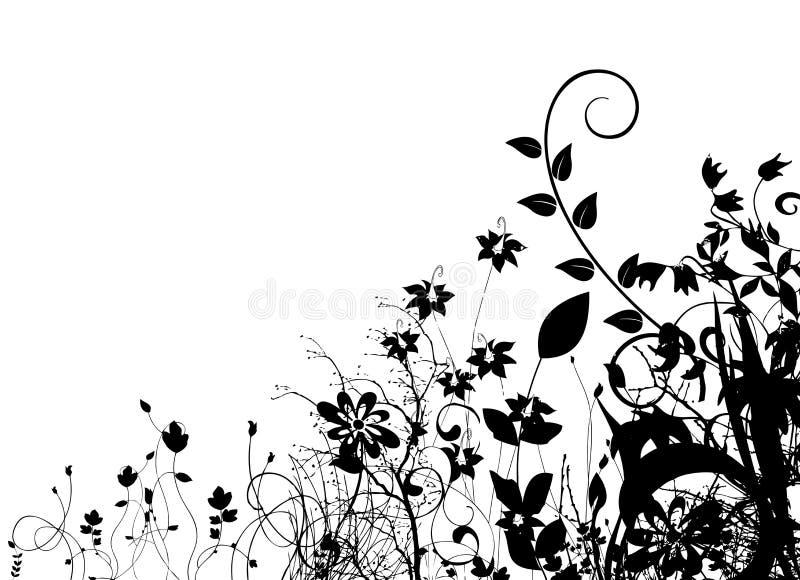 Vecteur floral abstrait illustration libre de droits