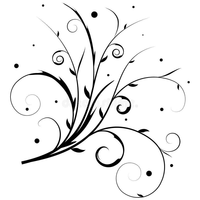 Vecteur floral de drapeau illustration de vecteur