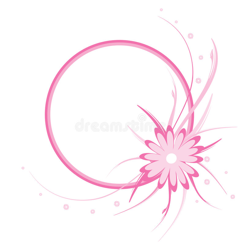 vecteur floral de rose de trame illustration libre de droits