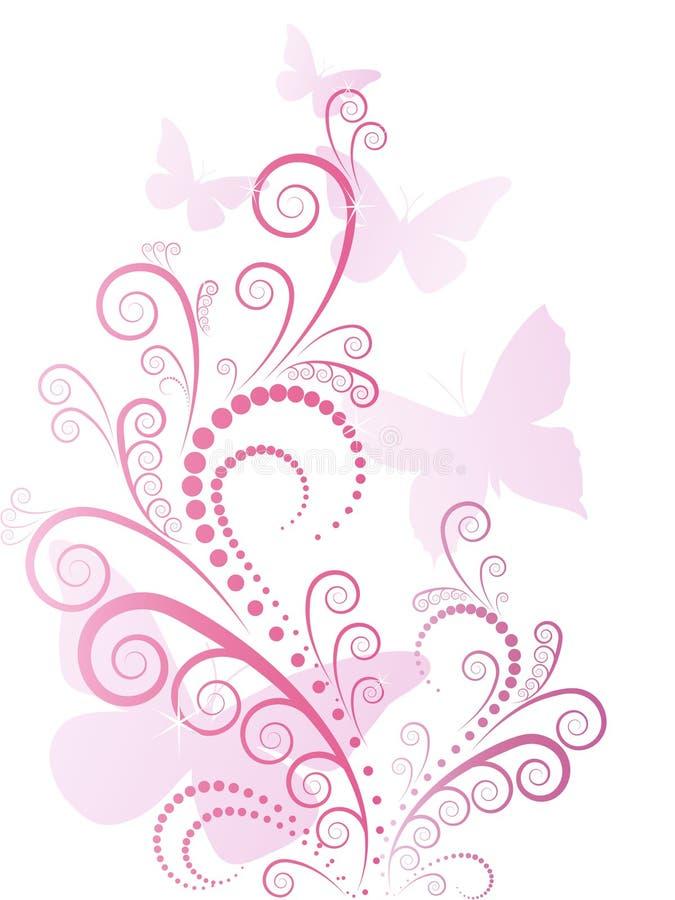 Vecteur floral rose fleuri illustration libre de droits