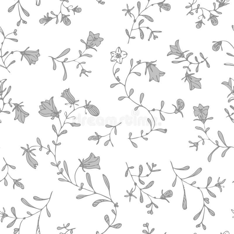 Vecteur floral simple de modèle de couleur en pastel sans couture image stock