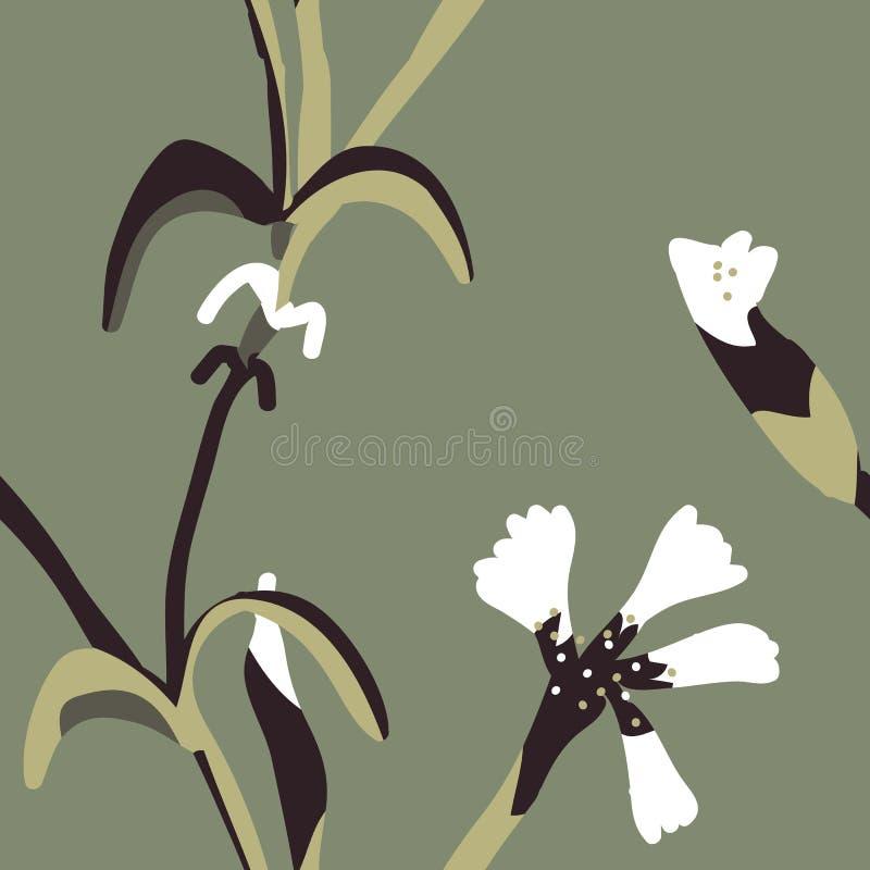 Vecteur floral simple de modèle de couleur en pastel sans couture photographie stock