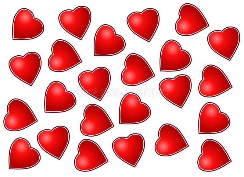 Vecteur - formes d'amour photos stock