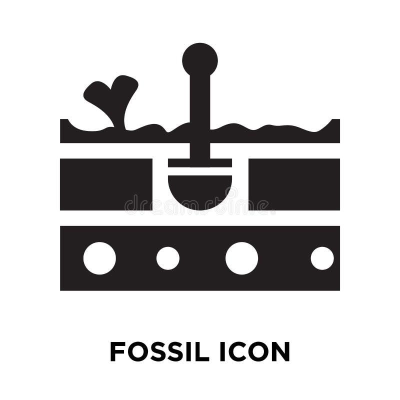 Vecteur fossile d'icône d'isolement sur le fond blanc, concept de logo de illustration de vecteur