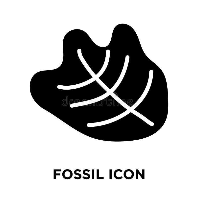 Vecteur fossile d'icône d'isolement sur le fond blanc, concept de logo de illustration stock