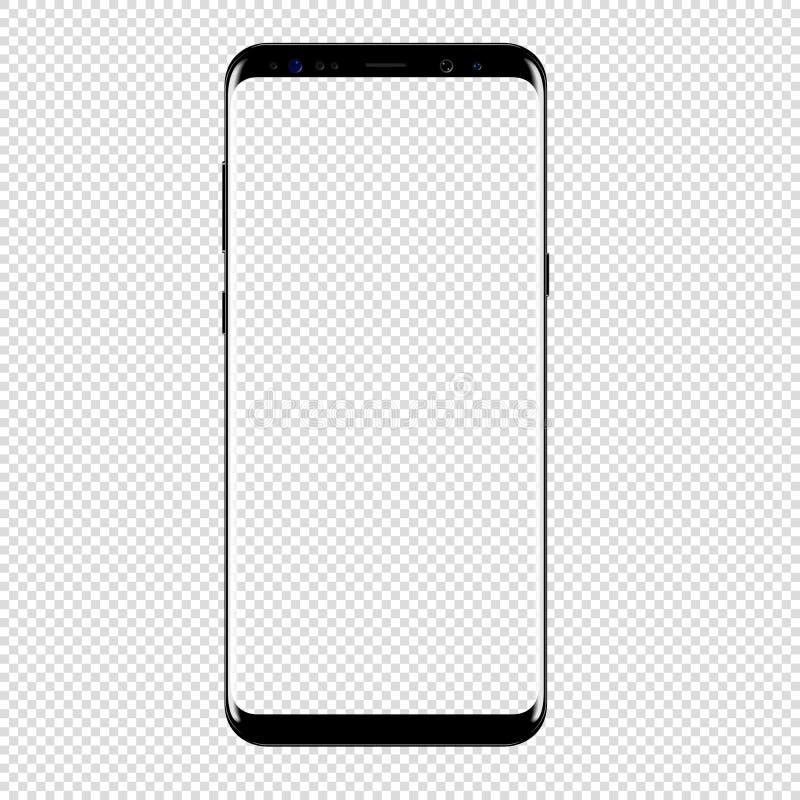 Vecteur futé de téléphone dessinant le fond transparent illustration stock