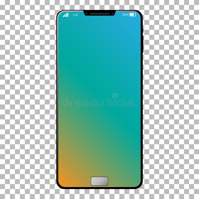 Vecteur futé générique de téléphone dans les couches sur le fond transparent illustration de vecteur