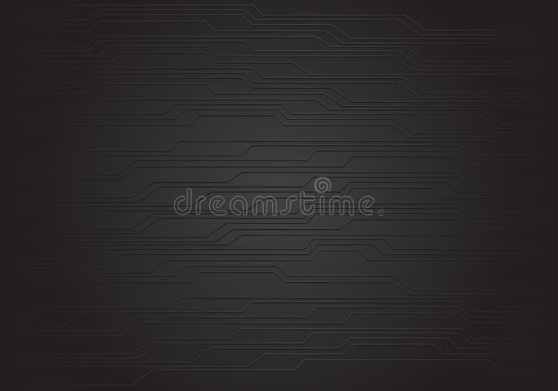 Vecteur futuriste moderne de technologie de circuit de modèle de fond de conception noire abstraite de texture illustration de vecteur