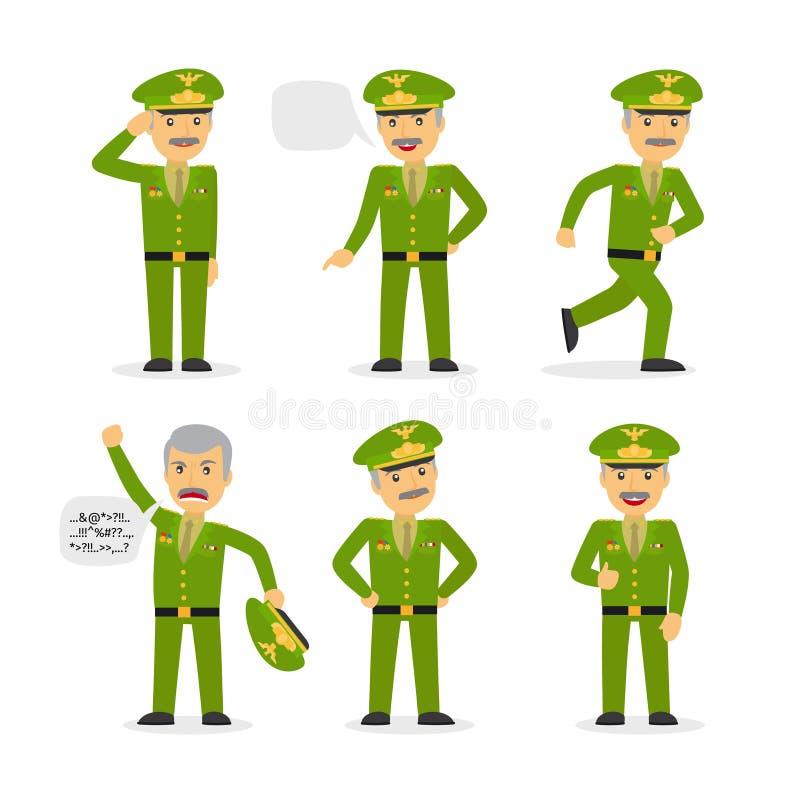 Vecteur général militaire de caractère illustration libre de droits