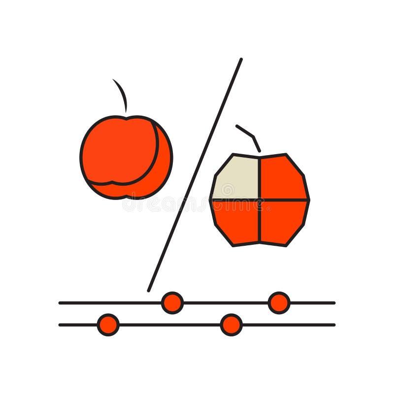 Vecteur génétique d'icône de modification d'isolement sur le fond blanc, G illustration libre de droits