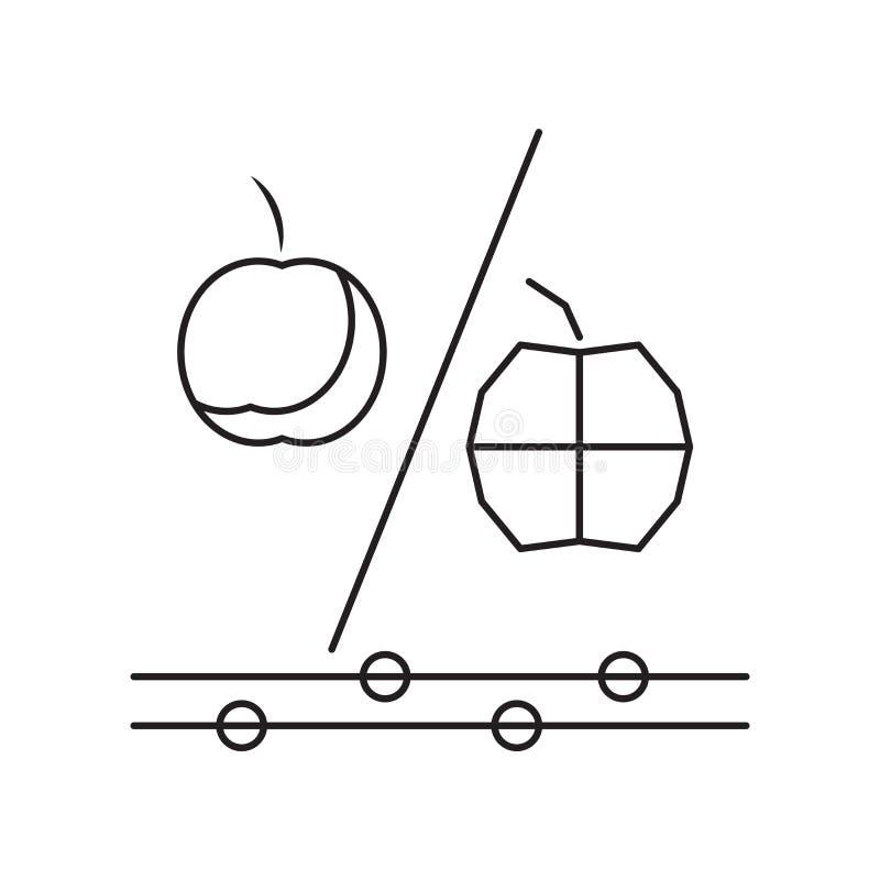 Vecteur génétique d'icône de modification d'isolement sur le fond blanc, G illustration de vecteur
