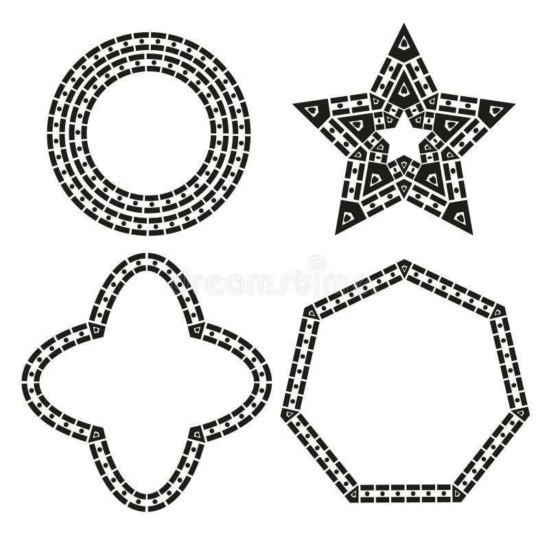 Vecteur géométrique de conception de formes illustration libre de droits