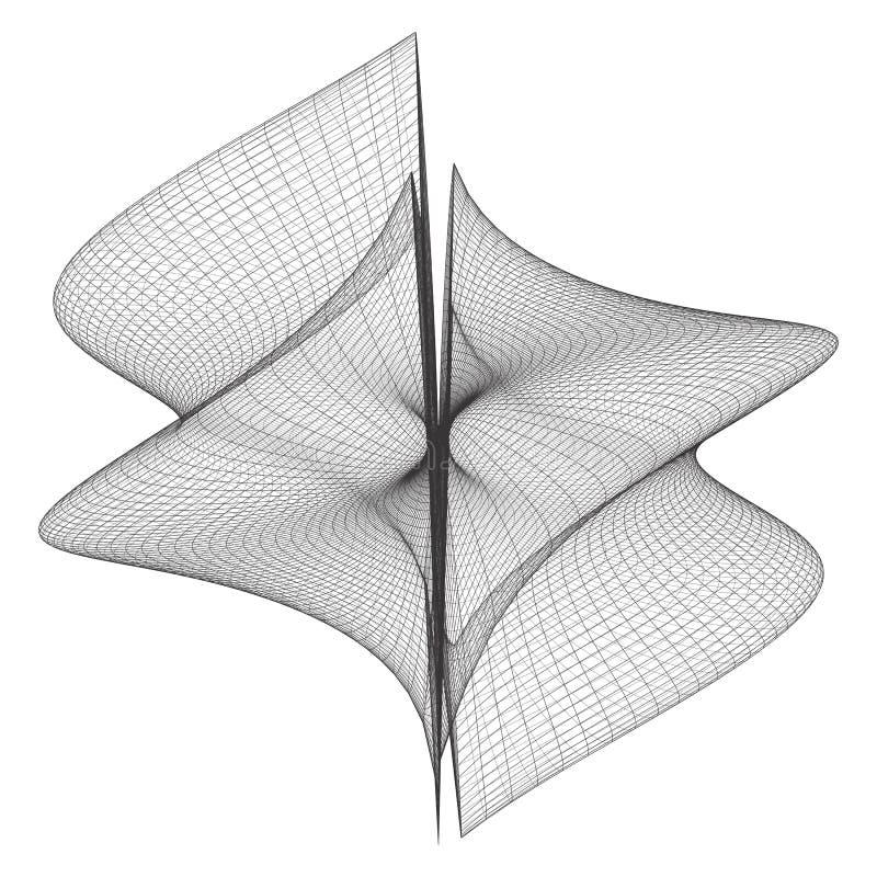 Vecteur géométrique de forme de Wireframe illustration stock