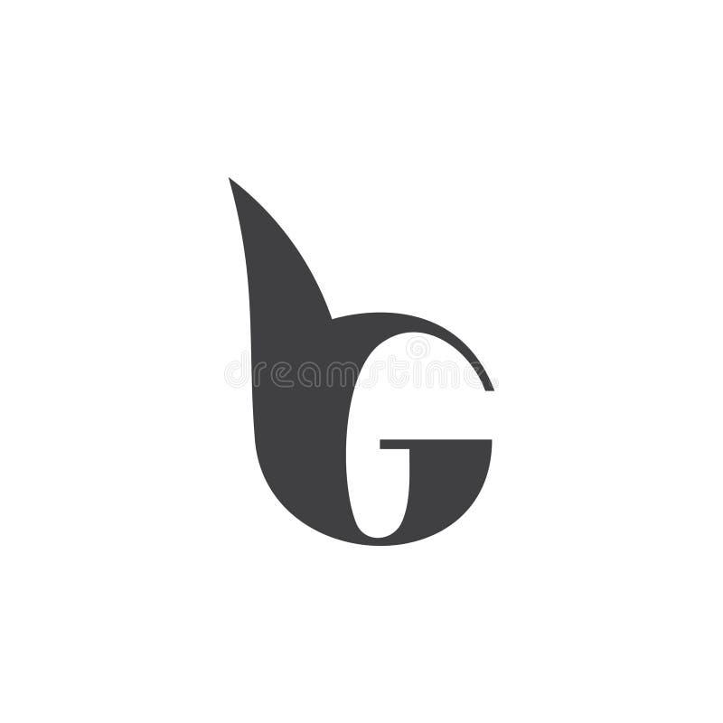 Vecteur géométrique de logo d'abrégé sur de la BG de lettres illustration de vecteur