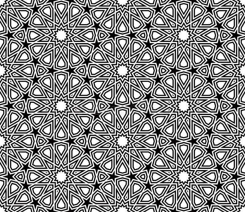 Vecteur géométrique de modèle de forme d'étoile illustration stock