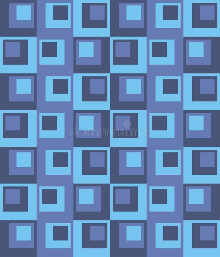 Vecteur géométrique de rectangles et de places de fond Le patchwork ou l'édredon illustration libre de droits