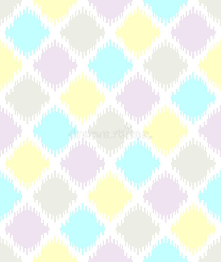 Vecteur géométrique sans couture Ikat de modèle semblant la rétro conception de vintage ethnique traditionnel illustration libre de droits