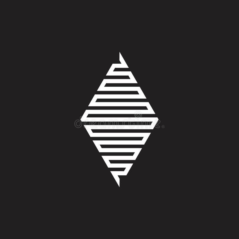 Vecteur géométrique trapèze de logo de schéma illustration libre de droits