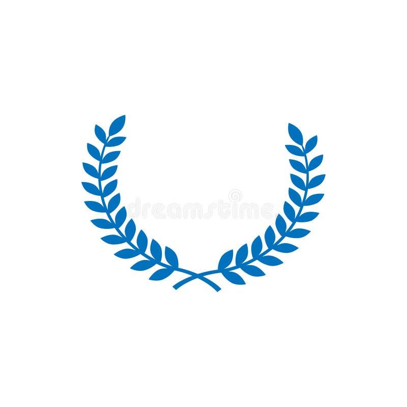 Vecteur graphique de calibre de conception de symbole de blé de cercle illustration libre de droits