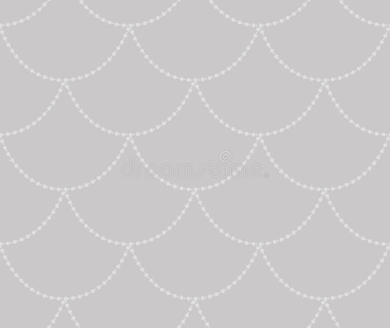 Vecteur Grey Decorative Seamless Pattern illustration stock